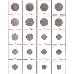 Estate Lot of Newfoundland 1-cent to 50-cent dated between 1800-1947. 26pcs