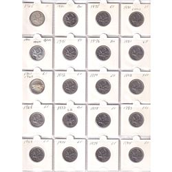 Estate Lot of Canada 25-cent 1965-2015. You will receive 133 pcs dated between 1965 & 2015 including