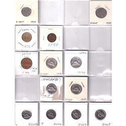 Mixed Pages of 41x mostly Canada/USA Coins - Oldest Date 1922-2008. Please view scan. 41pcs