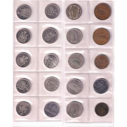 Estate Lot of World Coins including Canada, Mexico, italy and Great Britian. Please view image. 60pc
