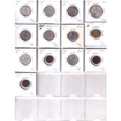 Mixed Page of 13 x German Coins dated between 1909 & 1949. 13pcs