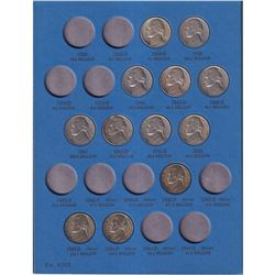 1938-1961 USA Jefferson Nickels in Whitman folder. 48 pcs