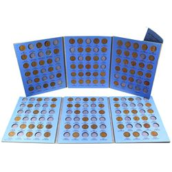 1909-1974 United States Lincoln Head 1-cent in vintage Whitman folder. You will receive 107 pcs date