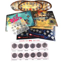 Estate Lot of Canada Commemorative sets: 1992 Canada 125th Anniversary with all 12 Commemorative 25-