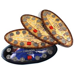 1999 & 2000 Nestle Original RCM official Commemorative Oval Shaped Display holder with Coins. You wi