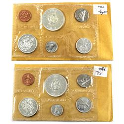 1964 No Dot & 1964 Regular Proof-Like Uncirculated Set in original pliofilm. 2pcs