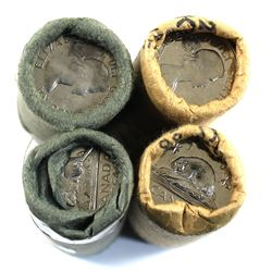 4x 1964 Canada Original 5-cent Roll of 40pcs. Includes two dated and two double head. 4pcs