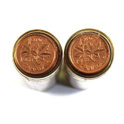 2x 1958 Canada BU 1-cent Roll of 50pcs. 2 Rolls