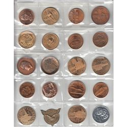 Estate Lot of 20x Miscellaneous, Mostly USA Copper and Brass Commemorative Medallions from Different