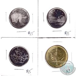 Lot of 4x RCM Tokens with Different Designs. 4pcs