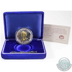 1952-1977 Silver Jubilee Fine Silver Medal with 24K Gold Plating by Jacques Cartier Mint (Tax Exempt