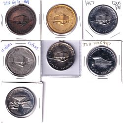 7x Expo 67 Composition Medallion in different metals. 7pcs