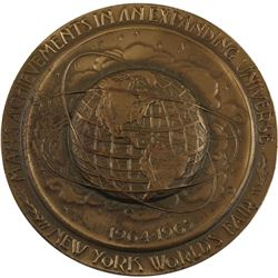 1964-1965 Man's Achievements in an Expanding Universe Medallion. Diameter 63mm