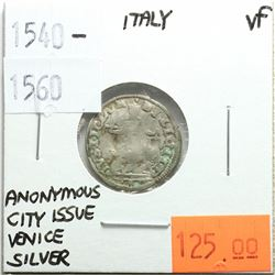 Italy 1540-1560 Silver, Anonymous City Issue, Venice, VF