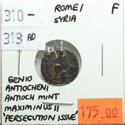 Rome Syria 310-313 AD 'Persecution Issue', Maximinus II, Genio Antiocheni, Antioch Mint, F
