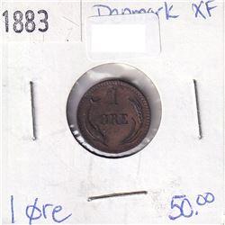 Denmark 1883 1 Ore XF