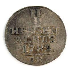 German States 1782 Hesse-Cassel 2 Albus Very Fine