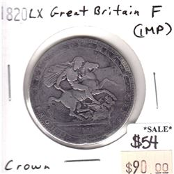 Great Britain 1820 LX Crown Fine (impaired)