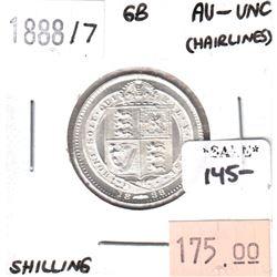 Great Britain 1888/7 Shilling AU-UNC (hairlines)