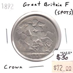 Great Britain 1892 Crown Fine (spots)