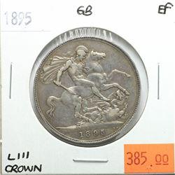 Great Britain 1895 Crown, LIII, EF