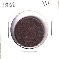 1858 Canada 1-cent Very Fine.