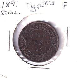 1891 Canada 1-cent SD SL Fine.