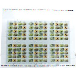 *Signed Uncut Press Sheet of 120x Birds of Canada 46ct Stamps # 1713i MNH. Number 0944 of 1500.