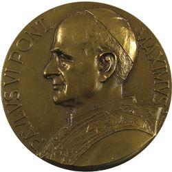 "Pope Paul VI Brass Medal ""Sanctvs Pavlvs"" on Back. 50mm diameter."
