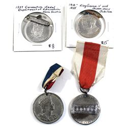 Lot of Royal Commemorative Medals and a Polish Military Medal. You will receive a 1910-1935 King Geo