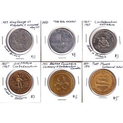 Lot of Canada Medallions - 1937 King George VI Elizabeth II Crowned May XII Canada-India-South Afric