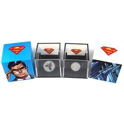 2013 Canada $10 Vintage Superman 1/4oz & 2013 $15 Modern Day Superman 1/2oz Fine Silver Coins. 2pcs
