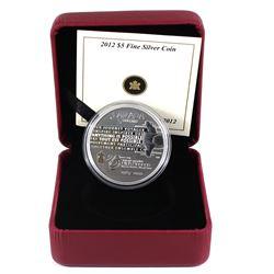 2012 Canada $5 Rick Hansen's Man-In-Motion Tour Anniversary Fine Silver Coin (capsule lightly scratc
