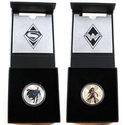 2016 Canada $10 Batman VS Superman Dawn of Justice – Wonder Woman & Superman. 2pcs (TAX Exempt). Iss