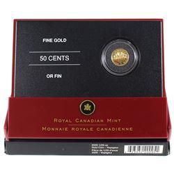 2005 Canada 50-cent Voyageur 1/25oz Fine Gold Coin (TAX Exempt).
