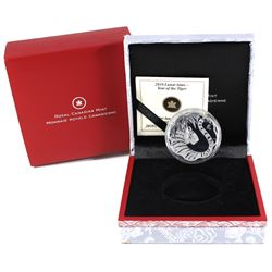 2010 Canada $15 Lunar Lotus Year of the Tiger Sterling Silver Coin (capsule lightly scratched).