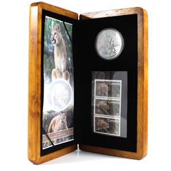 2012 Canada Cougar Coin and Stamp Set Featuring the Cougar Coin from the Canadian Wildlife Series Bu