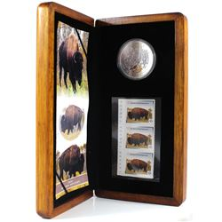 2013 Canada Bison Coin and Stamp Set Featuring the Bison Coin from the Canadian Wildlife Series Bull