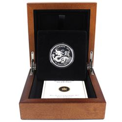 2012 Canada $15 Zodiac Year of the Dragon Fine Silver Coin (capsule lightly scratched & outer sleeve