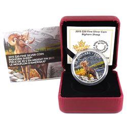 2015 Canada $20 Bighorn Sheep Fine Silver Coin (TAX Exempt).
