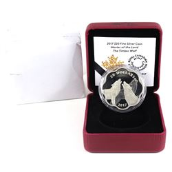 2017 Canada $20 Master of the Land - The Timber Wolf Fine Silver Coin (capsule scratched, writing on