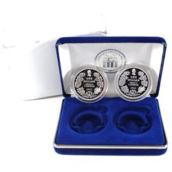 2006 Cook Islands 1911 Silver Dollar Tribute to Canada 2-coin Proof Set in National Collector's Mint