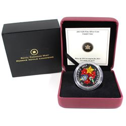 2013 Canada $20 Candy Cane Fine Silver Coin (capsule lightly scratched). TAX Exempt