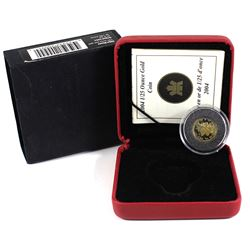 2004 Canada 50-cent Moose 1/25oz Fine Gold Coin (capsule has a small crack & coin lightly toned on b