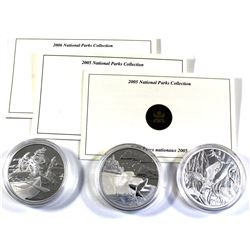 2005 & 2006 Canada $20 National Parks Collection Fine Silver Coins Encapsulated with COAs - 2005 Min