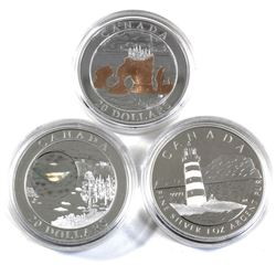 2004 & 2005 Canada $20 Fine Silver Coins in Capsules - 2004 Natural Wonders - Hopewell Rocks, 2004 L