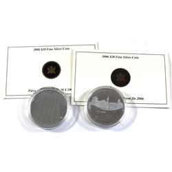 2006 Canada $20 Architectural Treasures Fine Silver Coins Encapsulated with COAs - Pengrowth Saddled
