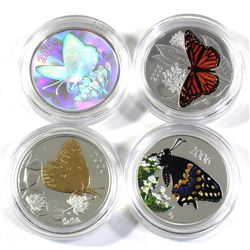 2004-2006 Canada 50-cent Butterflies Series Sterling Silver Coins in Capsules - 2004 Clouded Sulphur