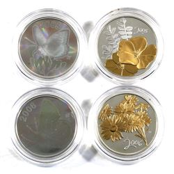 2005 & 2006 Canada 50-cent Sterling Silver Coins in Capsules - 2005 Butterflies - Great Spangled Fri