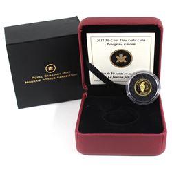 2011 Canada 50-cent Peregrine Falcon 1/25oz Fine Gold Coin (TAX Exempt).